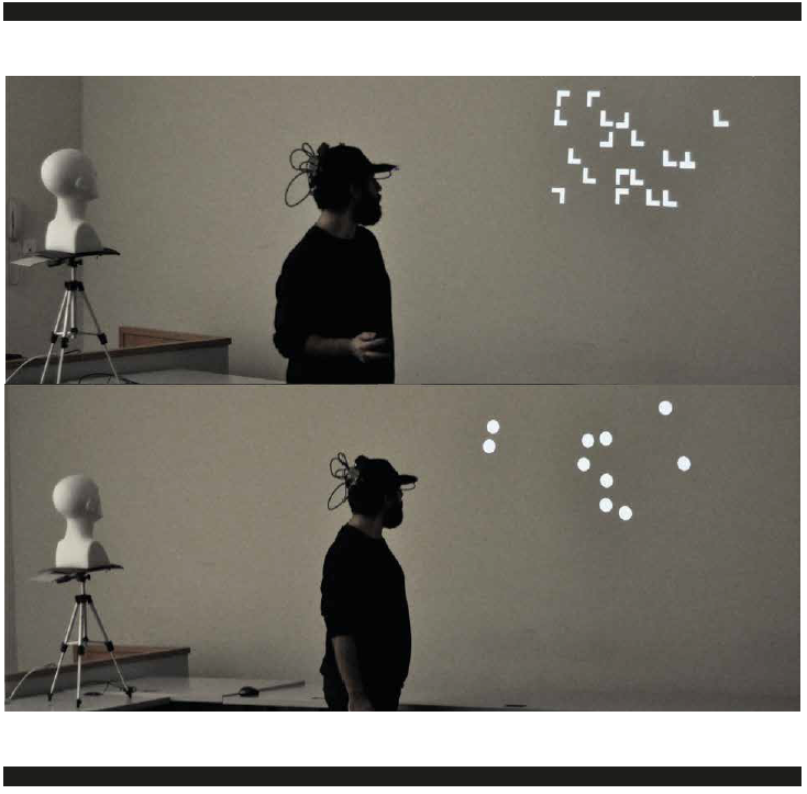 Head Mounted Projection Display & Visual Attentional Processing